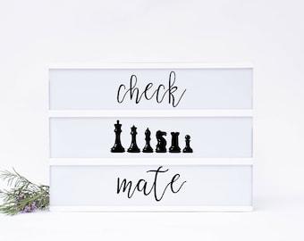 Check Mate Lightbox Insert Set