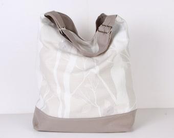 Hobo Bag / Tote Bag / Shoulder bag / Beach Bag / Travel Bag / Khaki and Ecru / Diaper Bag