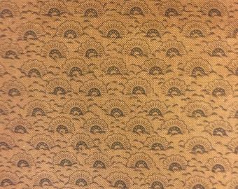 Scallops - Brown - Fat Quarter