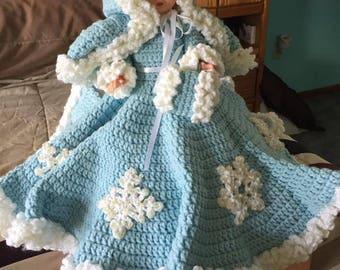 Crochet snowflake doll