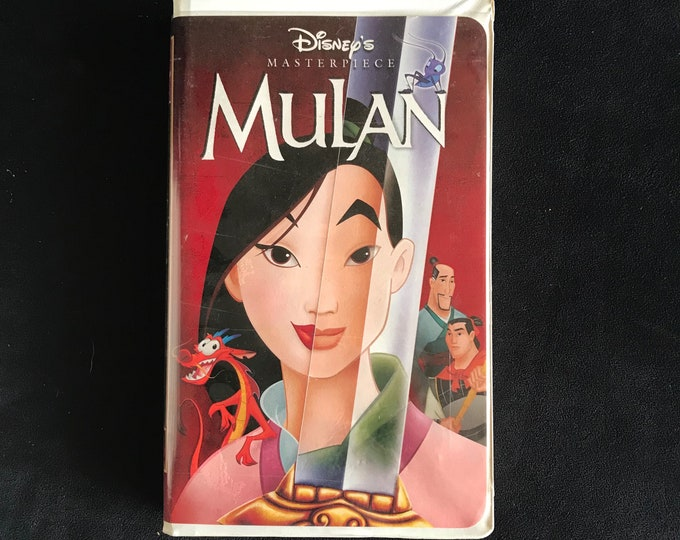 MULAN Disney 1990's Vintage Movie VHS