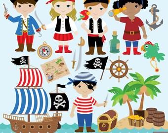Little Pirate Digital Clipart