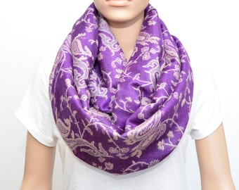 Purple Scarf - Purple Infinity Scarf - Orchid scarf- Violet Scarf - Lilac Scarf - Orchid Infinity Scarf - Lilac Infinity Scarf