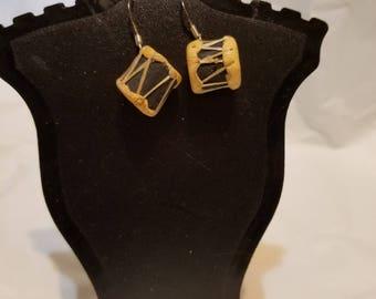 Handmade Drum Earrings