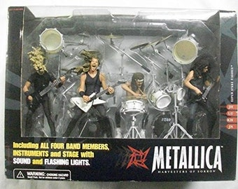 Never opened full figure set of Metallica - Harvester of Sorrow toys by McFarlane Toys...ENTIRE BAND