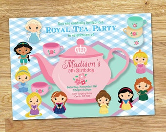 Princess Tea Party Invitation // DIGITAL File Only