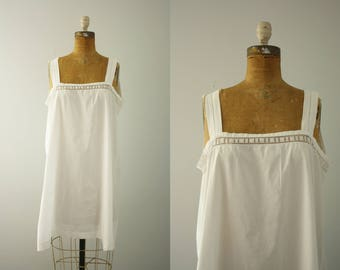 1920s slip | vintage 20s cotton night gown