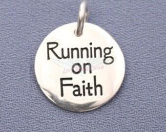 Running on Faith Charm