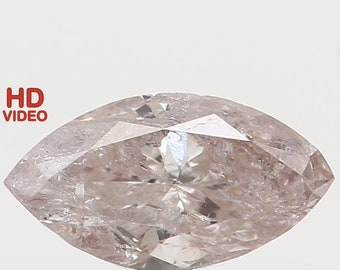 Natural Loose Diamond Marquise Yellow Grey Color I2 Clarity 4.80X2.50X1.70 MM 0.13 Ct N6378