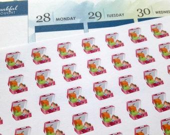 Lunch planner stickers, lunch box, planner stickers, kawaii stickers, food stickers for Erin Condren, Happy Planner, Filofax, Kikki K, TN