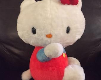 Rare Large Original 1976 Hello Kitty Plush!/ Sanrio/ Measures: 16 Inches!!!/ Rare Find!!!