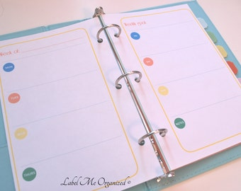 Perpetual Weekly Planner - A5 Sized