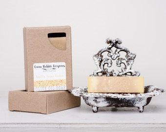 Olive Oil Soap, Vanilla Sugar Cookie, made with organic oils and phthalate free fragrance oils, by greenbubblegorgeous