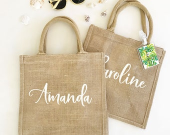 Burlap Tote Bag Personalized