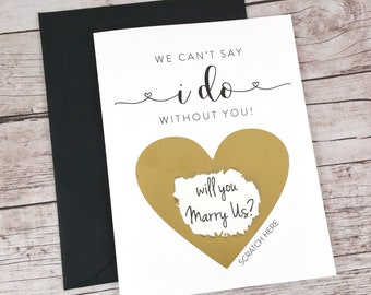Will You Marry Us Scratch Off Card, Wedding Officiant Scratch Off Card, Officiant Proposal Card, Wedding Card, Officiant Gift - (FPS00S1)