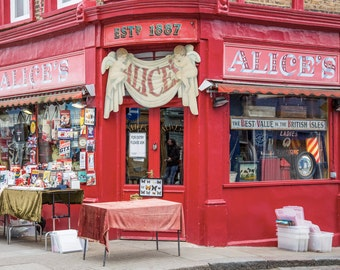 Portobello Road Photography - London Print - Alice's Antique Shop, Notting Hill - Portobello Market