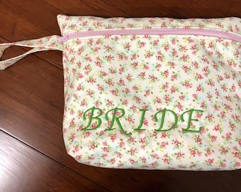 Brides wedding day bag