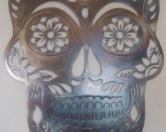 Sugar Skull Metal Art, Wall Decor, Decoration, Great Gift