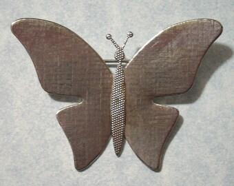 Large Silver Butterfly Brooch Blank Butterfly Pin