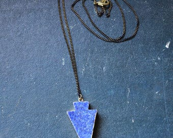 Necklace brass & Lapis Lazuli