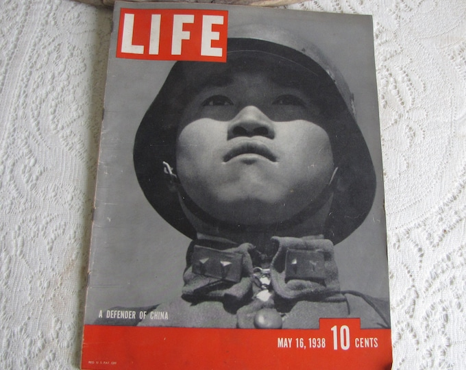 Life Magazines 1938 May 16 A Defender of China Vintage Magazines and Advertising