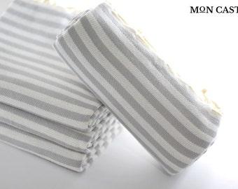 Mediterranean   Light Gray   Beach Towel   Bridesmaid Gift   Peshtemal  Turkish Beach Towel   Turkish Towel   Beach Towel   Bridesmaid Towel