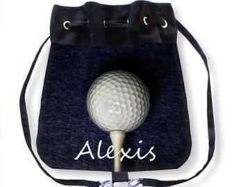 Personalized Golf Purse-Personalized Golf Bag-Golf Backpack-Cinch Sack Backpack-Golf Cross Body Bag-Drawstring Bag-Messenger Bag-Cinch Bag