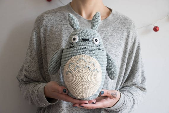 Amigurumi Totoro : Big totoro plush totoro amigurumi totoro plushie stuffed