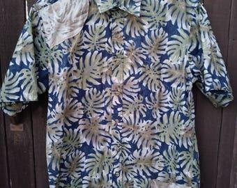 Blue Green Brown Upstyled Hawaiian Shirt
