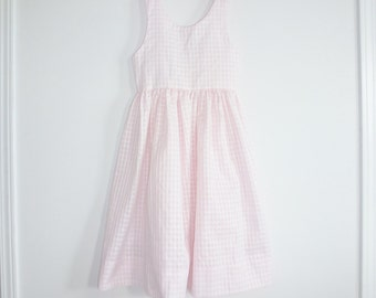 Vintage Pink and White Gingham Dress