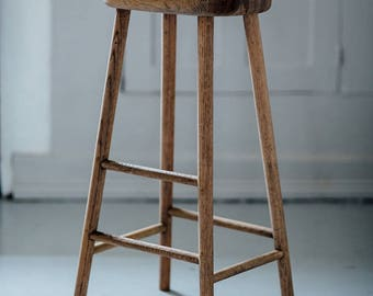 Bailey Weathered Oak Stool