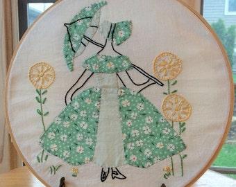Vintage Southern Belle Hoop Art