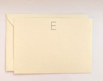Monogram Notecard Flat