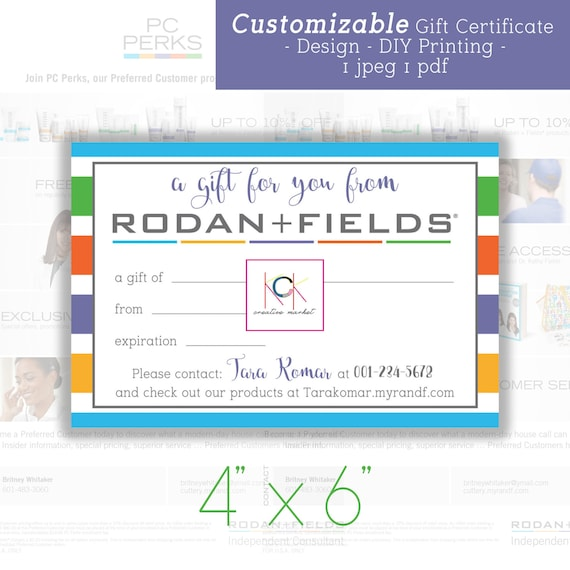 customizable gift certificate