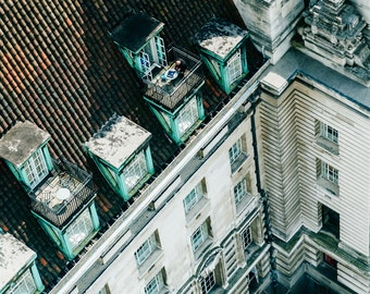 Man from above, Photography, Art Print, London, travel, uk, man, building photograph, Photograph, photo, view from top, print, building