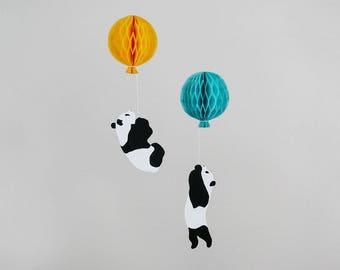 Floating Panda Mobile Art