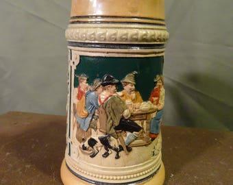 Vintage German Beer Mug Stein with Handle