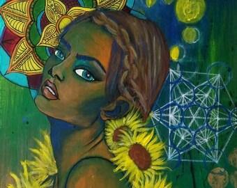 Sunflower Beauty- 8.5x11 Print