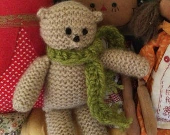 Bundy Bear- Handknit with Love