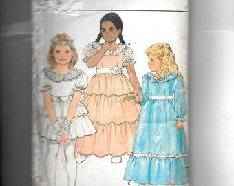 Butterick Girl's Dress and Petticoat Pattern 6324