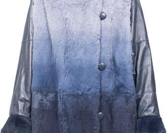 Vintage Giorgio Mobini rabbit fur coat 80s