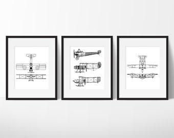 Aviation Print - Vintage Airplane Print - Airplane Home Decor - Antique Plane Art - Airplane Nursery - Printable Airplane Print 8x10 | 11x14