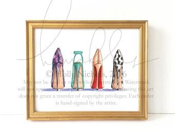 The Lineup (Fashion Illustration Print)