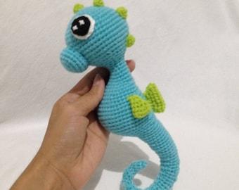 Seahorse, Seahorse Plush,Crochet seahorse,Ocean Sea Creatures,Stuffed Seahorse,Sea animals,Little Stuffed Fish,Seahorse doll,baby toy