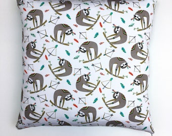 Colourful Sloth Cushion Cover