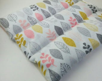 Pink Heating Mat Microwavable - Organic Cotton and Flaxseed - Flat Rectangular - great for lower or upper back, tummy, hip, knee - Unscented
