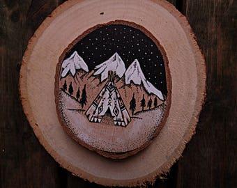 Tipi on wood