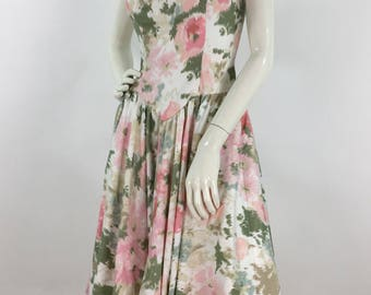 Vintage crinoline swing dress, corset swing dress