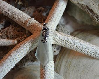 Seahorse and Blue Sea Glass