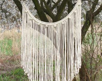 Boho Curtain, macrame curtain, macrame wall hanging, gypsy curtain, hippie decor, C3